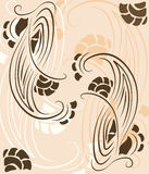 Abstract pattern floral composition. Vector illustration Royalty Free Stock Images