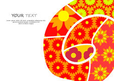 Abstract pattern flower background Royalty Free Stock Photos