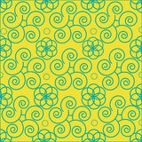 Abstract pattern flower seamless  beauty summer pattern abstract seamless   decoration   spiral Stock Images