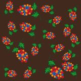 Abstract pattern with flowers Royalty Free Stock Photos