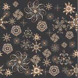 Abstract pattern with flowers Royalty Free Stock Images
