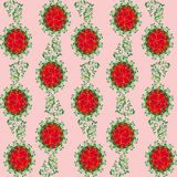 Abstract pattern with flowers Stock Photography