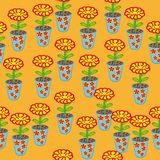 Abstract pattern with flowers Stock Images