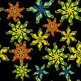 Abstract pattern with flowers Stock Image