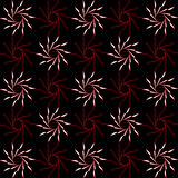 Abstract pattern of flowers on a black background. Stock Photos