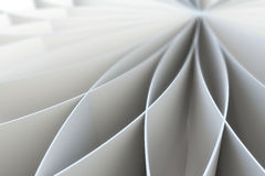 Abstract pattern of a folded blank pages. 3d illustration Stock Photography