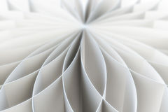Abstract pattern of a folded blank pages. 3d illustration Stock Images