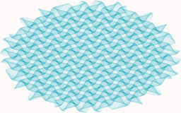 Abstract pattern in the form of blue curls Stock Photo