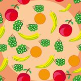 Abstract pattern with fruits Stock Photography