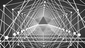 Abstract pattern of geometric lines and points background. Abstract pattern of geometric lines and points. Abstract scheme. Networking. Abstract background. 3D Royalty Free Illustration