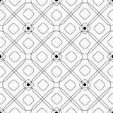 Abstract pattern with geometric shapes rhombuses and circles. Abstract seamless pattern with geometric figures intersecting rhombuses and circles. Contour Stock Photography