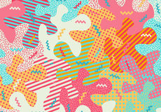 Abstract pattern with geometric shapes. Royalty Free Stock Photos