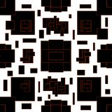Abstract pattern in geometric style. Black and white illustration with geometric figures. stock illustration