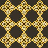 Abstract pattern with geometric stylistics and Arabic motif. Can be used for textile, background, linen, wrapping paper, packaging, etc Stock Photo