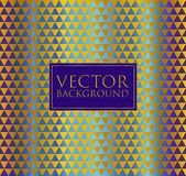 Colorful and Gold vector background of abstract pattern geometric triangle shapes. Abstract pattern geometric triangle shapes Royalty Free Illustration