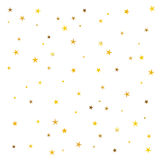Abstract pattern of gold stars. On a white background. Festive confetti. A great background for a gift card Royalty Free Illustration