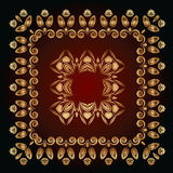 Abstract pattern with golden floral ornaments Stock Photos