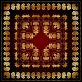 Abstract pattern with golden floral ornaments Stock Photography
