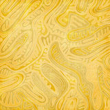 Abstract pattern with golden foliage ornament. Over paper texture. fashion background design. yellow textile art print. textured wallpaper template. hand drawn vector illustration