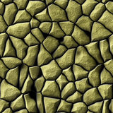 Abstract pattern with golden relief of stones Royalty Free Stock Image