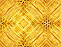 Abstract pattern of golden symmetrical square Royalty Free Stock Photography