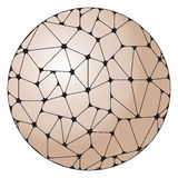 Abstract pattern of gray geometric elements grouped in a circle. stock illustration