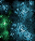 Abstract pattern of green and blue mosaics Royalty Free Stock Photo