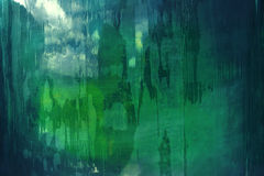 Abstract pattern in green and blue Stock Image