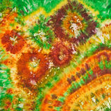 Abstract pattern on handmade silk batik Stock Photography