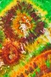 Abstract pattern on handmade silk batik Royalty Free Stock Photos
