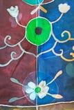 Abstract pattern on handmade silk batik Stock Images