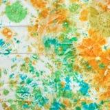 Abstract pattern on handmade silk batik Stock Photo
