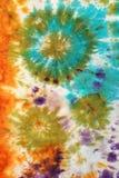 Abstract pattern on handmade silk batik Royalty Free Stock Photo
