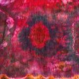 Abstract pattern on handmade silk batik Stock Image