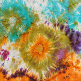 Abstract pattern on handmade silk batik Stock Photos