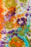 Abstract pattern on handmade silk batik Royalty Free Stock Photo