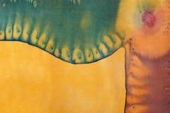 Abstract pattern on handmade silk batik Stock Photos