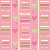 Abstract pattern with hearts. Colorful background with pink and green hearts Vector Illustration