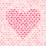 Abstract pattern with hearts on light background Stock Photography
