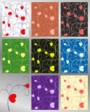 Abstract pattern hearts set seamless Royalty Free Stock Image