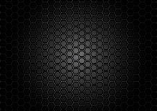 Abstract pattern hexagon  on black color background Royalty Free Stock Images
