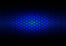 Abstract pattern hexagon  on dark blue color background Royalty Free Stock Images