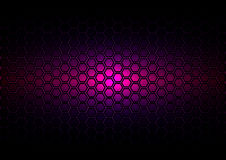 Abstract pattern hexagon  on dark purple color background Stock Image