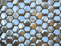 Abstract pattern of hexahedron Royalty Free Stock Images