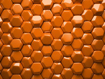 Abstract pattern of hexahedron Stock Photo