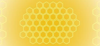 Abstract pattern. honeycombs. Abstract pattern on a yellow background of honeycombs royalty free illustration