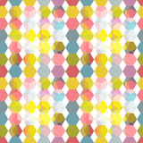 Abstract pattern with honeycombs. Seamless pattern in light soft colors with polygonal structure Vector Illustration