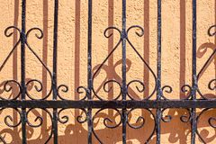 Abstract pattern of an iron fence Royalty Free Stock Photo