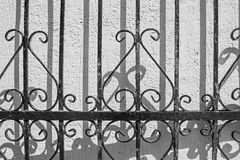 Abstract pattern of an iron fence Stock Photo
