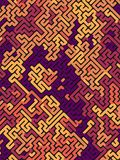Abstract pattern. Labyrinth concept. Futuristic composition background of colored shapes. 3D rendering Royalty Free Stock Photography